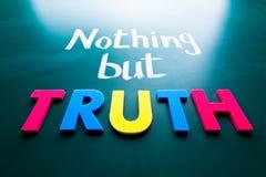 Nichts aber Wahrheit Stockbilder