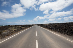 Nichts falsch mit den Straßen auf Lanzarote Lizenzfreie Stockbilder