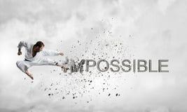 Nichts ist unmöglich Stockbild