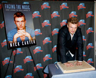 Nick Carter. NEW YORK-SEP 24: Singer Nick Carter promotes his new book 'Facing The Music: And Living To Talk About It' at Planet Hollywood Times Square on Royalty Free Stock Image