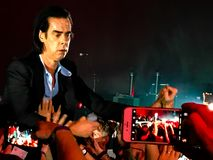 Nick Cave & The Bad Seeds in Concert in Vienna stock photo