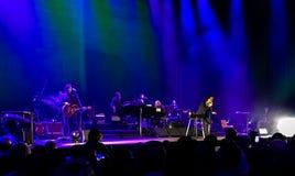 Nick Cave & det dåliga fröt i konsert i Wien royaltyfria bilder