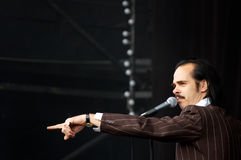 Nick Cave Performing at ATP Royalty Free Stock Photos