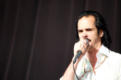 Nick Cave Performing at ATP Royalty Free Stock Images