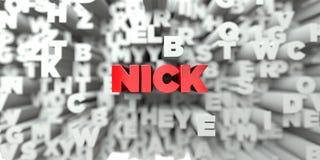 NICK - Czerwony tekst na typografii tle - 3D odpłacający się królewskość bezpłatny akcyjny wizerunek royalty ilustracja