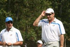 Nick Faldo Captain Ryder Cup. Nick Faldo and Jose Maria Olazabal Captain at the Ryder Cup Stock Images