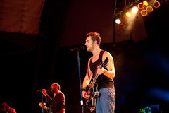 Nick Hexum de 311 de concert Photos stock