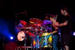 Nick Hexum y P-Tuerca de 311 en concierto Imágenes de archivo libres de regalías