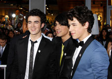 Nick Jonas, Kevin Jonas en Joe Jonas Stock Fotografie