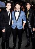 Nick Jonas, Kevin Jonas en Joe Jonas Royalty-vrije Stock Foto