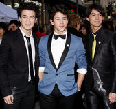 Nick Jonas, Kevin Jonas en Joe Jonas Stock Afbeeldingen