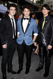 Nick Jonas, Kevin Jonas et Joe Jonas Images libres de droits
