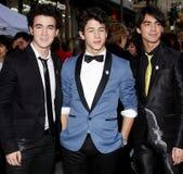 Nick Jonas, Kevin Jonas och Joe Jonas Arkivbilder