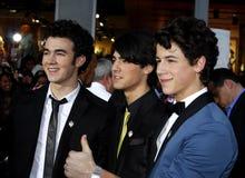 Nick Jonas, Kevin Jonas och Joe Jonas Fotografering för Bildbyråer