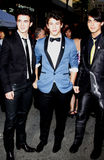 Nick Jonas, Kevin Jonas y Joe Jonas Imagenes de archivo