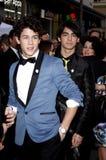 Nick Jonas y Joe Jonas Imagenes de archivo