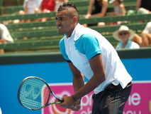 Nick Kyrgios of Australia ready for return Royalty Free Stock Image
