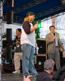 Nick Mangold. New York Jets center Nick Mangold speaking at a Jets pep rally Royalty Free Stock Photos