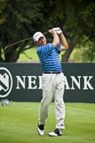 Nick Price - 18th Tee. Nick Price drives his last tee shot of the tournament Stock Photos