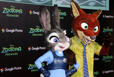 Nick Wilde and Judy Hopps Royalty Free Stock Photography