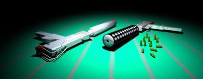 Nickel überzogene Gewehren stock abbildung
