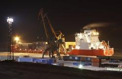 Nickel de Norilskiy de navire porte-conteneurs Photo libre de droits