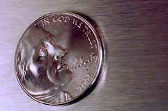 Nickel des USA photographie stock