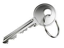 Nickel door key Royalty Free Stock Photos