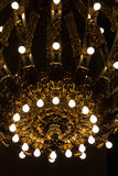 Nickel and gold plated chandelier Royalty Free Stock Image