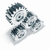 Nickel Metal Gears Meshing Stock Photos