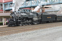 Nickel Plate Road 765 Steam Locomotive. At Altoona PA Amtrak Station Royalty Free Stock Photo