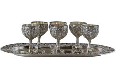 Nickel Silver glasses set Stock Images