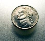 Nickel sur le métal Images libres de droits