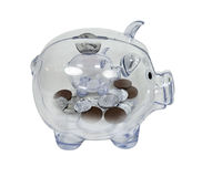 Nickel-und Groschen-Sparungen lizenzfreie stockbilder