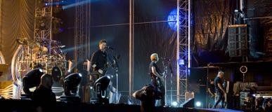 Nickelback musikband royaltyfria bilder