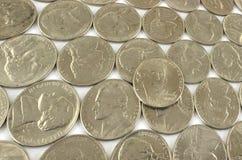 Nickels assortis photographie stock