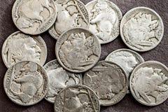 Nickels de Buffalo photographie stock libre de droits