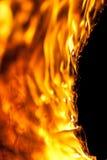 Nicken, Flammen und Holzkohle Lizenzfreies Stockfoto