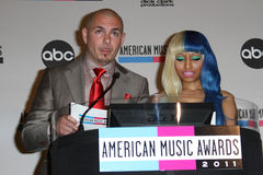 Nicki Minaj, Pitbull imagens de stock