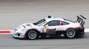 Nicki Thiim in Porsche Supercup at Monza in September 2014 Royalty Free Stock Photo