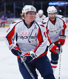 Nicklas Backstrom. Washington Capitals, had 3 assists to power the Caps over the Rangers 5-4 in overtime Royalty Free Stock Image