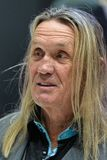 Nicko McBrain- - Maiden-Schlagzeuger Stockfotos