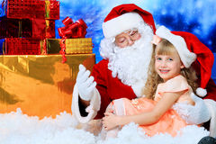 Nickolas with a child Royalty Free Stock Photography