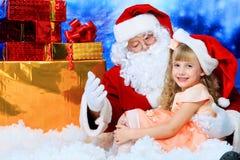 Nickolas com uma criança fotografia de stock royalty free