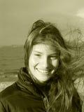 Nicky en el mar Imagen de archivo libre de regalías