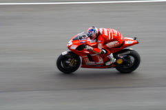 Nicky Hayden in action Royalty Free Stock Photography