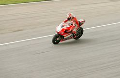 Nicky Hayden in action at Sepang, Malaysia Stock Photography
