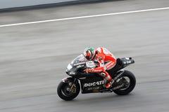 Nicky Hayden d'équipe de Ducati images libres de droits