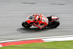 Nicky hayden on the ducati Stock Image