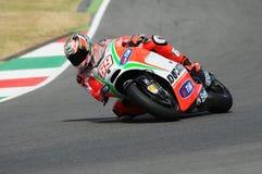 Nicky Hayden DUCATI MotoGP 2012 Стоковое Изображение RF